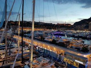Monaco-Yacht-Show-night-view